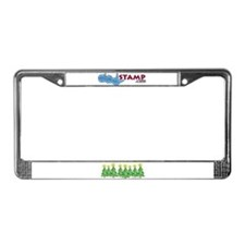 ILY Christmas Forest License Plate Frame