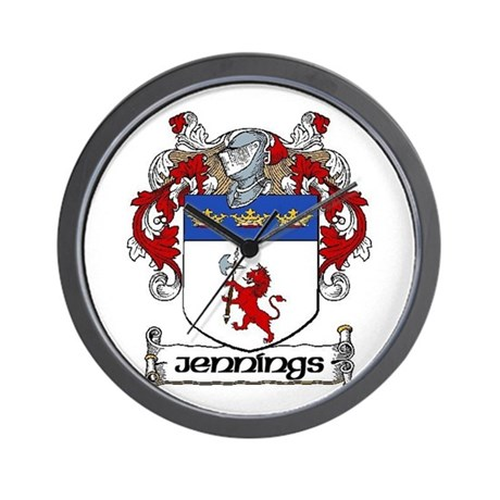 Jennings Coat of Arms Wall Clock