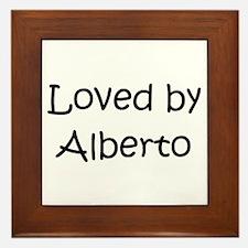 Funny Alberto Framed Tile