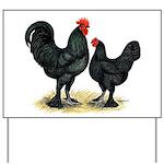 Black Langshan Chickens Yard Sign