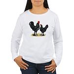 Black Langshan Chickens Women's Long Sleeve T-Shir