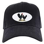 Black Langshan Chickens Black Cap