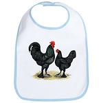 Black Langshan Chickens Bib