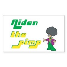 Aiden - The Pimp Rectangle Decal