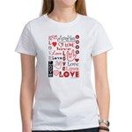 Love WordsHearts Women's T-Shirt
