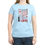 Love WordsHearts Women's Light T-Shirt