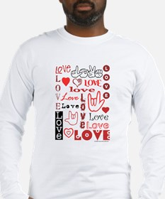 Love WordsHearts Long Sleeve T-Shirt