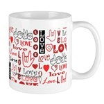 Love WordsHearts Mug