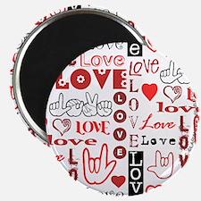 Love WordsHearts Magnet