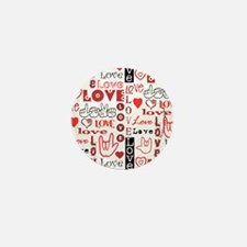 Love WordsHearts Mini Button