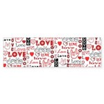 Love WordsHearts Bumper Sticker (10 pk)