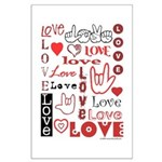 Love WordsHearts Large Poster