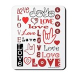 Love WordsHearts Mousepad