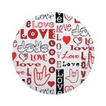 Love WordsHearts Ornament (Round)