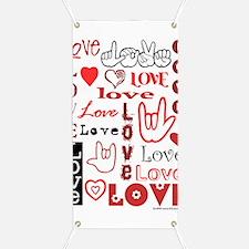 Love WordsHearts Banner