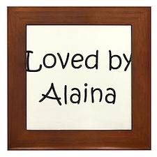 Unique Alaina Framed Tile