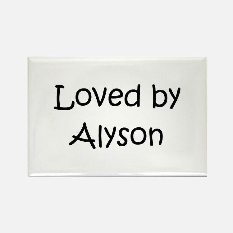 Cute Alyson Rectangle Magnet