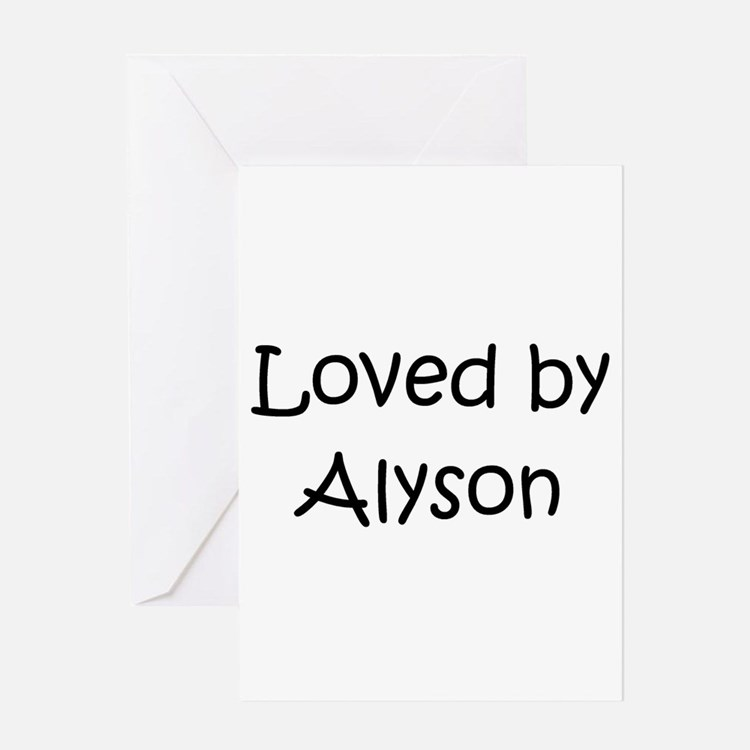 Cute Alyson Greeting Card