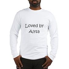 Funny Alysa Long Sleeve T-Shirt