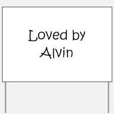 Funny Alvin Yard Sign