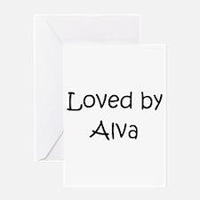 Cute Alva Greeting Card