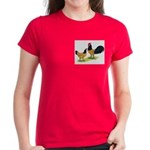 Gold Lakenvelder Chickens Women's Dark T-Shirt