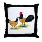 Gold Lakenvelder Chickens Throw Pillow