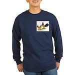 Gold Lakenvelder Chickens Long Sleeve Dark T-Shirt