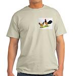 Gold Lakenvelder Chickens Light T-Shirt