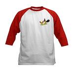Gold Lakenvelder Chickens Kids Baseball Jersey