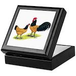 Gold Lakenvelder Chickens Keepsake Box
