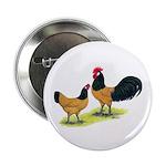 """Gold Lakenvelder Chickens 2.25"""" Button (10 pa"""
