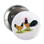 """Gold Lakenvelder Chickens 2.25"""" Button"""