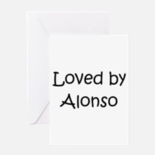 Cute Alonso Greeting Card