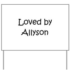 Cute Allyson Yard Sign