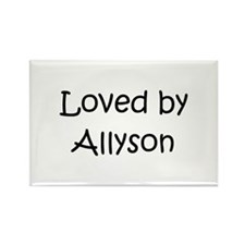 Funny Allyson Rectangle Magnet