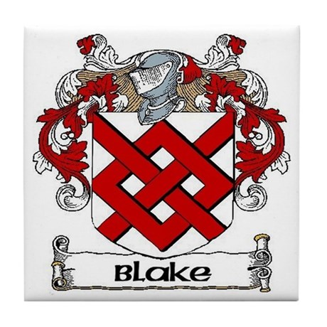 Blake Coat of Arms Tile Coaster