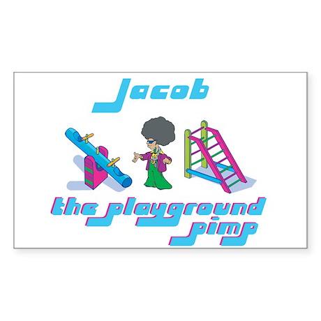 Jacob - Playground Pimp Rectangle Sticker