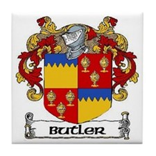 Butler Coat of Arms Tile Coaster