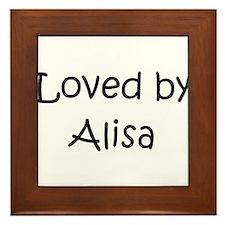 Cute Alisa Framed Tile