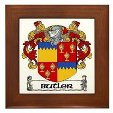 Butler Coat of Arms Framed Tile