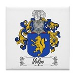 Volpe Family Crest Tile Coaster