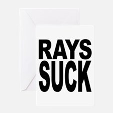 Rays Suck Greeting Card