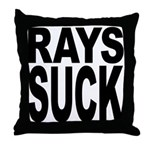 Rays Suck Throw Pillow