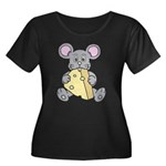 Mouse & Cheese Women's Plus Size Scoop Neck Dark T