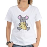 Mouse & Cheese Women's V-Neck T-Shirt