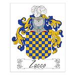 Zacco Family Crest Small Poster