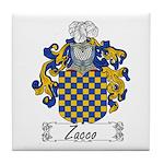 Zacco Family Crest Tile Coaster