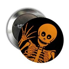 "Friendly Skeleton 2.25"" Button"
