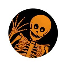 "Friendly Skeleton 3.5"" Button (100 pack)"